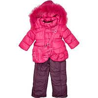 Зимний комбинезон для девочек с сумочкой