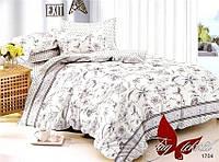 Комплект постельного белья из поплина евро  1704