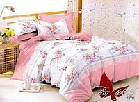 Комплект постельного белья из поплина евро с компаньоном 1705