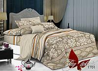 Комплект постельного белья из поплина евро с компаньоном 1701