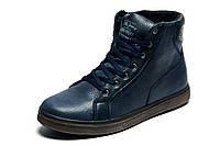 Ботинки зимние Trike, на меху мужские, натуральная кожа, темно-синие, р. 40 41 42 43 44 45