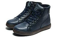 Ботинки зимние Trike, на меху мужские, натуральная кожа, темно-синие, р. 41