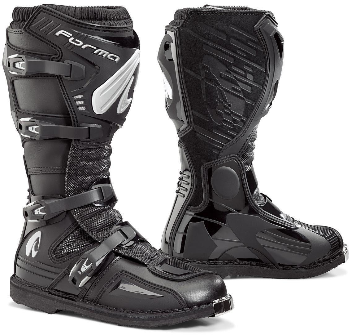 Мотоботинки Forma Terrain EVO кроссовые черные, 46