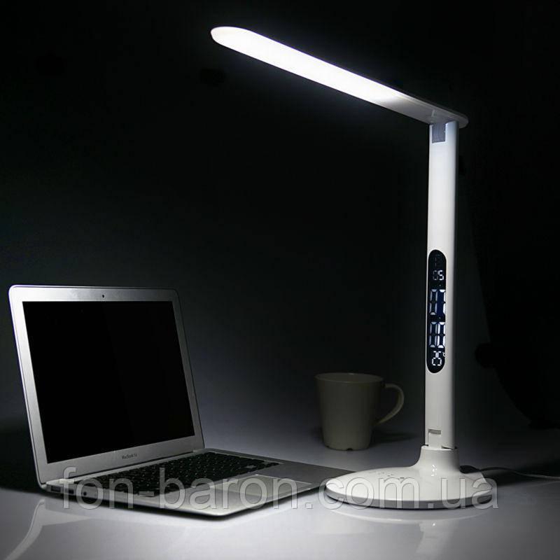Светодиодная настольная лампа с часами, термометром, календарем, фото 1