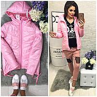 Куртка-парка утепленная 210 розовый