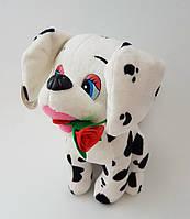 Собака собачька Долматинец с розой гавкает качественный хорошо прошитая мягкая игрушка