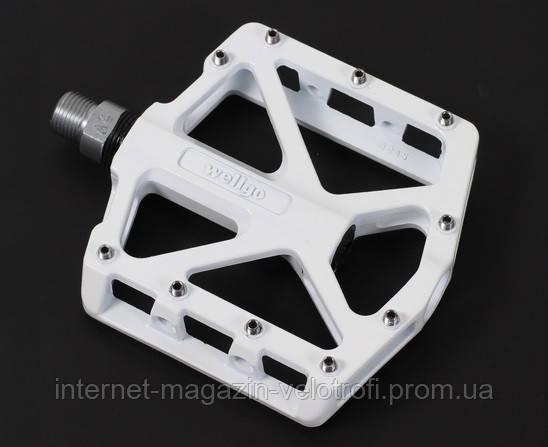 Педали алюминиевые Wellgo B245 white