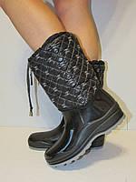 Сапоги резиновые Chanel утепленные, размер 36-41