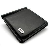 Зажим для купюр кожаный магнитный черный Desisan, фото 1