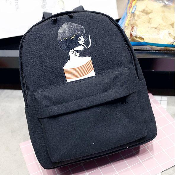 Стильный рюкзак с рисунком девушки
