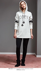 КОСТЮМ С ЛОСИНАМИ, пижама теплая CATHERINES 1114 тёплый домашний