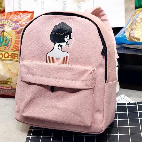 Стильный рюкзак с девушкой