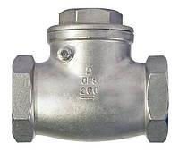 Обратный клапан поворотный резьбовой, Ру18 К