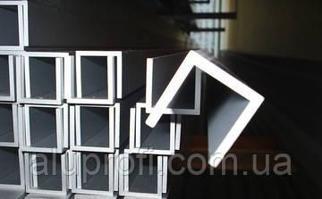 Швеллер алюминиевый 20х40х2 мм анод