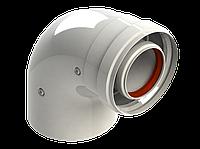 Комплектующие для котлов NAVIEN Дымоход Угол 90 градусов коаксиальный 60/100 мм ''мама-мама'' A 007
