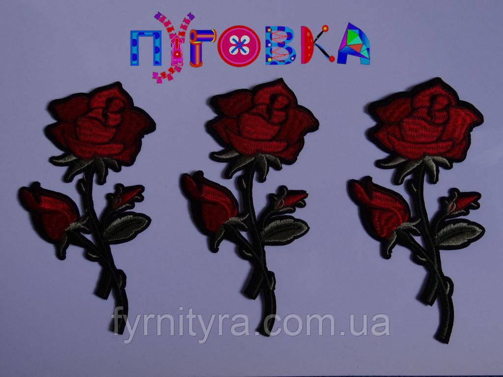 Аппликация термоклеевая цветок 1527