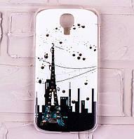 Чехол для Samsung Galaxy S4 (i9500) со стразами город