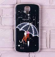 Чехол для Samsung Galaxy S4 (i9500) со стразами девушка с зонтом