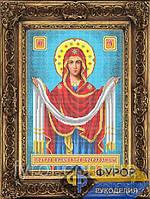 Схема для вишивки бісером Покров Пресвятої Богородиці