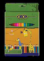 Карандаши цветные standard, 18 цветов zb.2402
