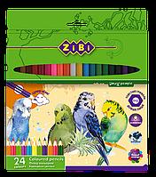 Цветные карандаши zibi zb.2412 soft на 24 цвета