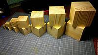 Дерев'яні кубики 9*9 см, фото 1
