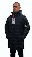 Длинная зимняя куртка braggart синяя 46, 48 размер