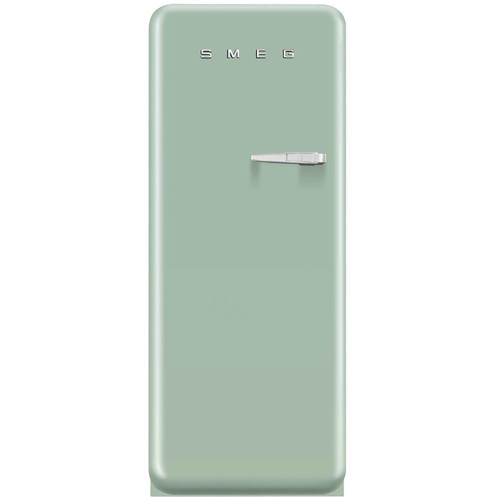 Окремо стоїть однодверний холодильник, стиль 50-х років Smeg FAB28LPG3 пастельно - зелений (бірюзовий)