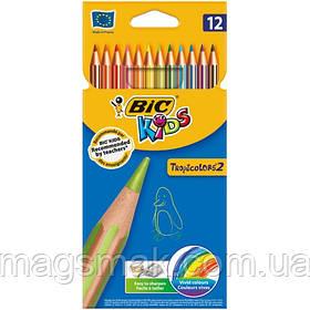 Карандаши цветные BIC Tropicolor 12 цветов