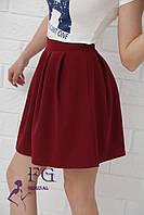 Юбка женская «Беверли» - распродажа модели бордовый, 46