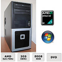 Системный блок - 2 ЯДРА Athlon X2 5200+ 2x2.7GHz /2GB DDR2 /80GB HDD