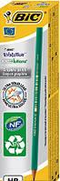 Набор карандашей чернографитных 12 шт шестиугольных BIC Evolution HB Зеленый