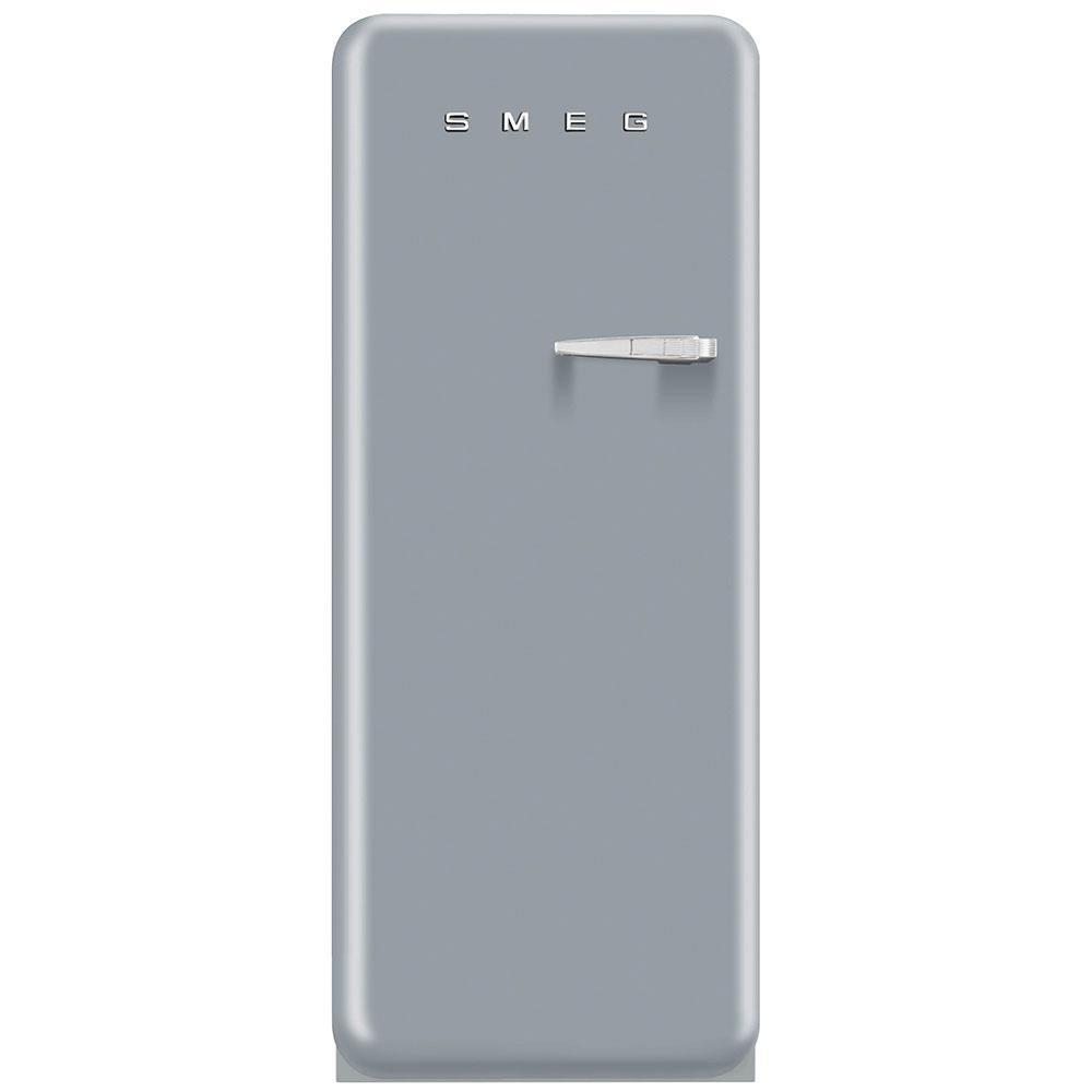 Отдельно стоящий однодверный холодильник, стиль 50-х годов Smeg FAB28LSV3 серебристый