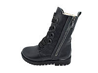 Женские кожаный демисезонные ботинки Carlo Pachini Stael 2574 Black