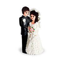МАСТИКА, Съедобная фигурка на свадебный торт Жених и невеста, 19 см