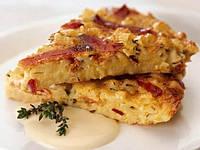 Омлет с сыром качокавалло