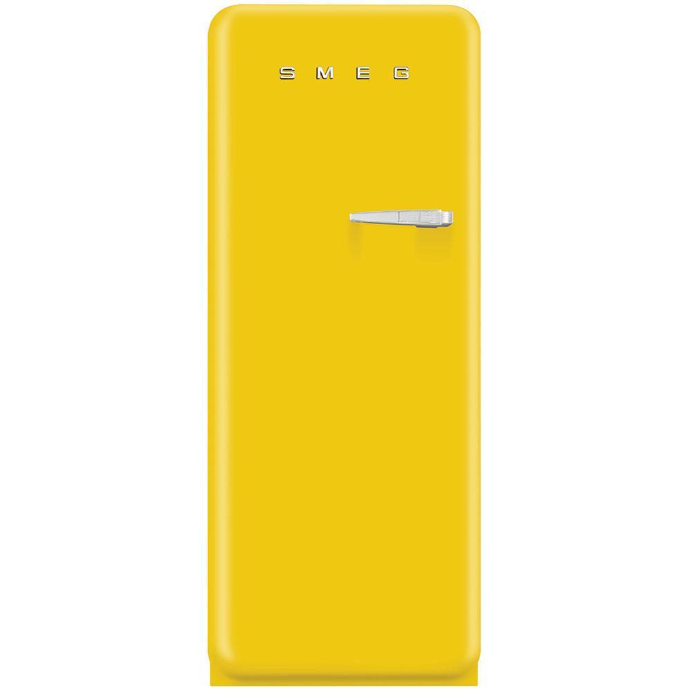 Отдельно стоящий однодверный холодильник, стиль 50-х годов Smeg FAB28LYW3 желтый