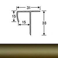 Профиль для плитки алюминиевый ТІС АТЛП 2.7 м бронза N60303042