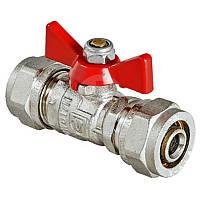 Краны для воды VALTEC Кран шаровый под обжим 16 мм. VT.343.N.1616