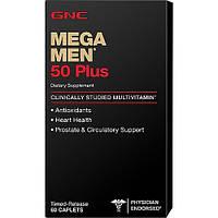 Витамины для мужчин GNC Mega Men 50 Plus (60 таб) (101979) Фирменный товар!