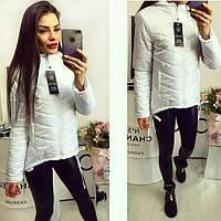 Куртка-парка утепленная 210 белый