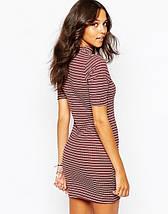 Короткое платье в полоску Boohoo, фото 2