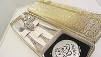 Женский подарок на день святого валентина сувенирный набор посуды с косметикой для макияжа, фото 1