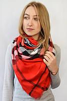 Модный женский платок красного цвета