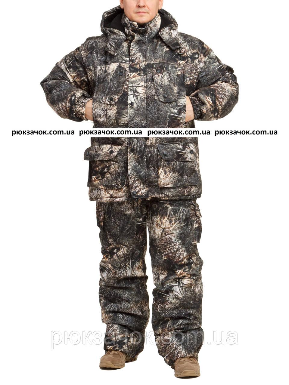 "Охотничий костюм на зиму, из нешуршащей, дышащей ткани ""Сокол"" размер 60-62"
