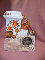 Украинская Печка - статуэтка и настенное керамическое панно 20х19х8
