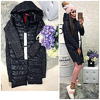 Модная куртка из ткани букле и  плащевки .979