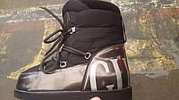 Сапоги луноходы дутики угги женские модные реплика Moon boot Gucci код 278