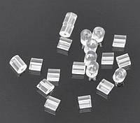 Заглушка для Серьги, Резина, 3 mm x 3 mm, Прозрачный, фото 1