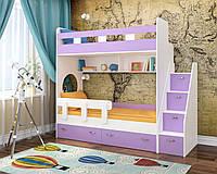 Двухъярусная кровать Modern с боковой лестницей